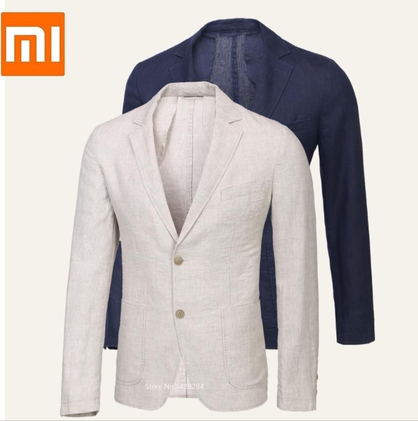 Xiaomi youpin Proease man 100 linen breathable slim suit Natural linen Shu Shuang Summer Men Slim