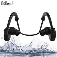 M & j ipx7 à prova d' água sem fio bluetooth stereo headset handsfree esporte fone de ouvido com microfone para iphone samsung xiaomi novo