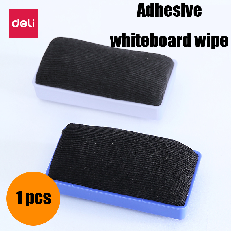 Deli Magnetic Flannel Whiteboard Eraser Office School Plastic Marker White Board Cleaner Eraser Wipe Student Stationery Supply
