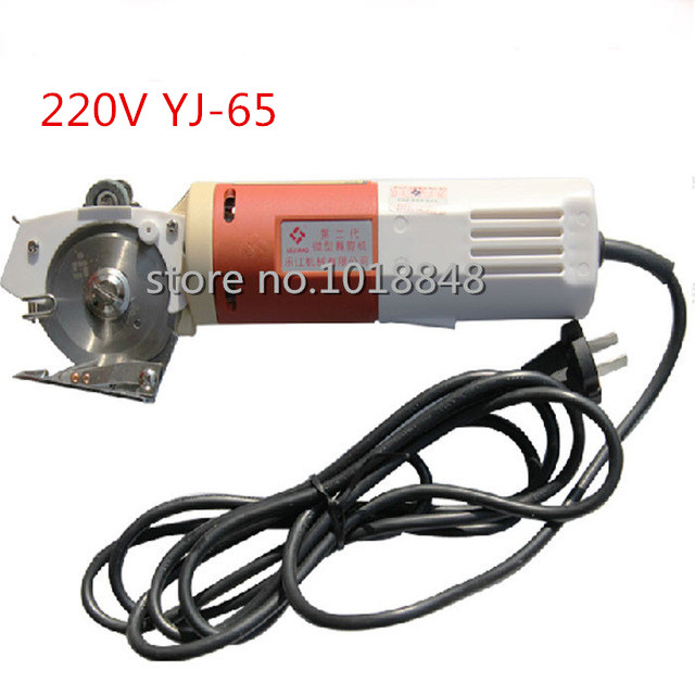 1PCS YJ-65 65mm Blade Electric Round Knife Cloth Cutter Fabric Cutting Machine 220V Round Knife Cutting Machine yj 70 70mm blade electric round knife cloth cutter 220v 170w fabric cutting machine round knife cutting machine 4pcs lot