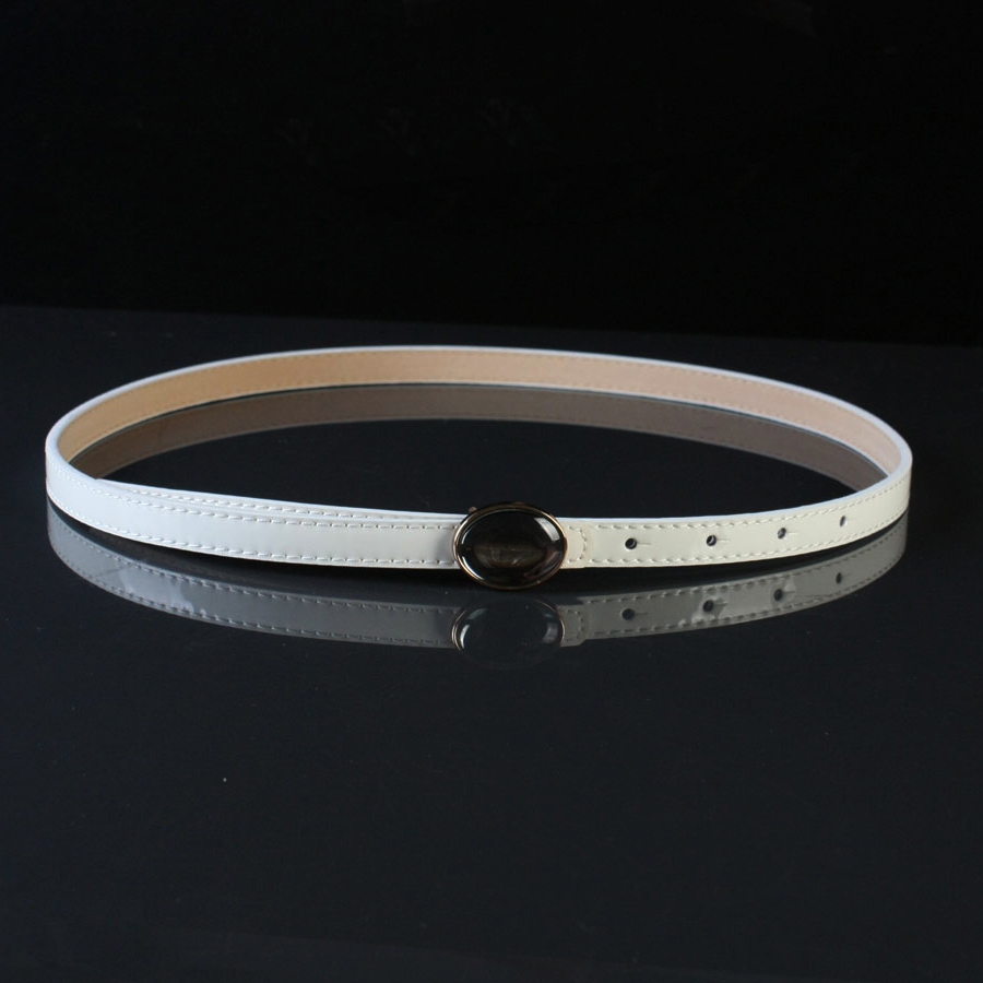 popular white patent leather belt womens buy cheap white