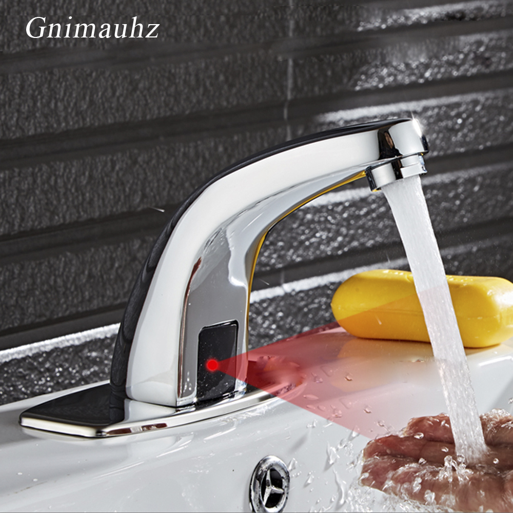 Automatic Hot And Cold Mixer Tap, Medical/Public place Bathroom Basin Infrared Sink Hands Touchless Inductive Sensor Faucet