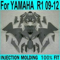 Injection molded Fairings For YAMAHA YZF R1 09 2009 12 2012 ( Matte black ) Fairing kit ll26