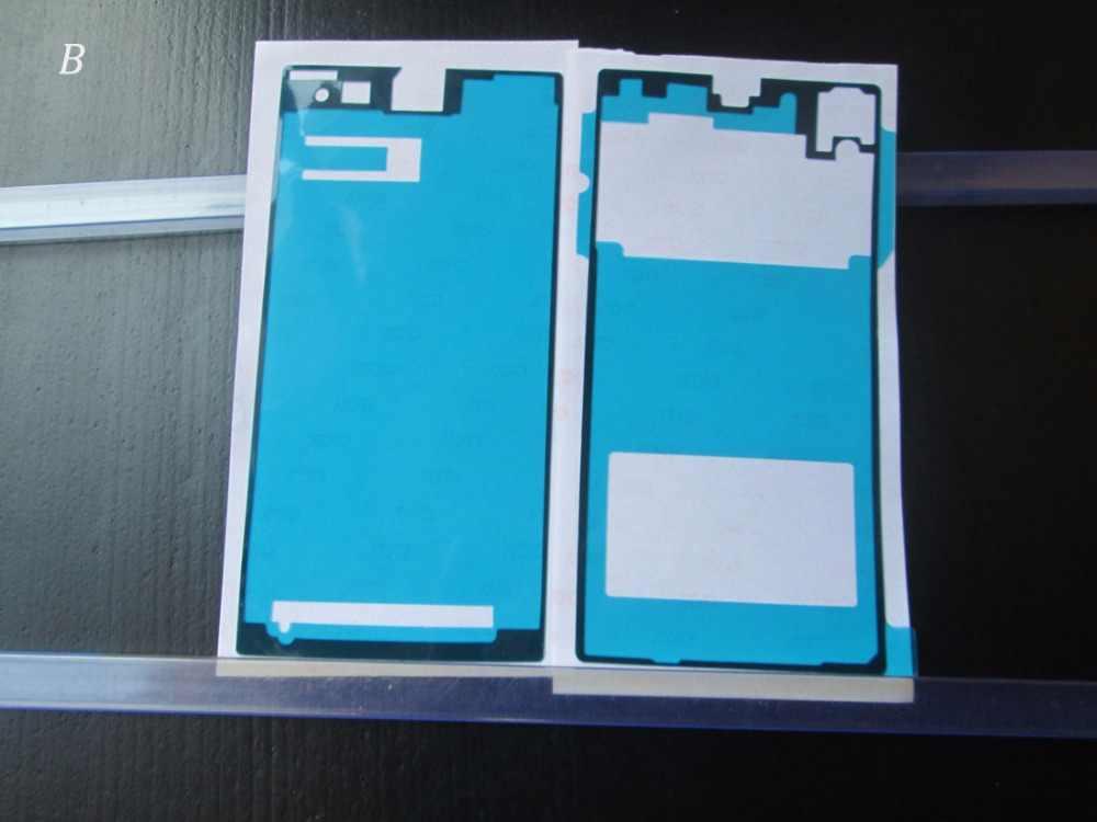 BLINGIRD avant + arrière adhésif colle ruban autocollant pour Sony Xperia Z1 L39h C6903 C6906 C6943 LCD boîtier cadre arrière batterie couvercle