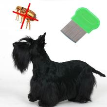 Pet Dog Cat Clean Comb Brush Dog Hair Grooming Tool Stainless Steel Long Needle Nit Lice Comb Pet Flea Comb Catching Lice random