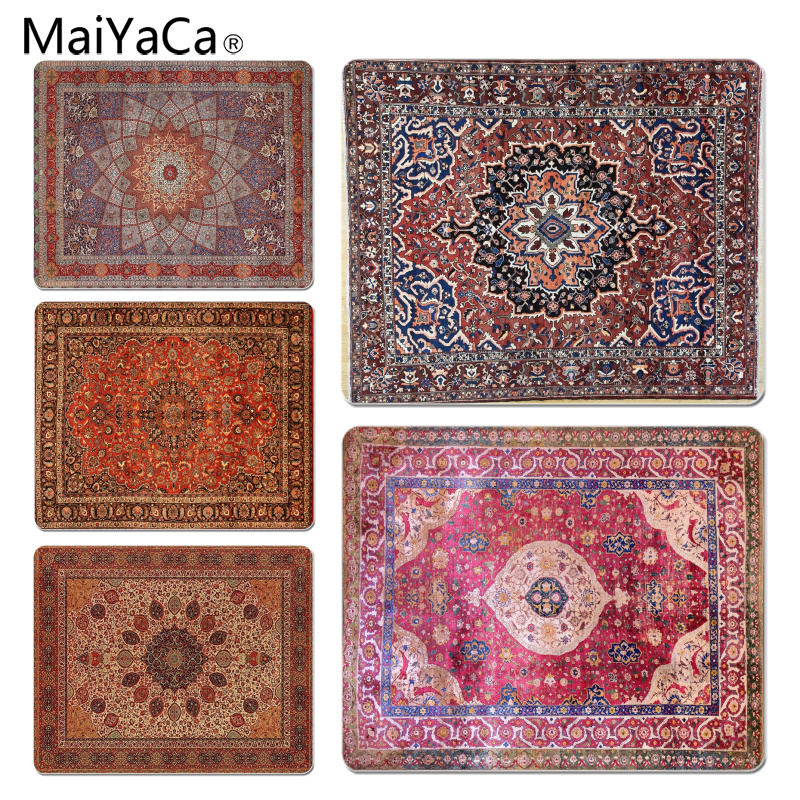 MaiYaCa Persian carpet Customized laptop Gaming mouse pad Size for 25X29cm Gaming Mousepads