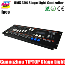 TIPTOP TP001CD Свет Этапа 304 Контроллер 1-304 DMX Каналов Управления ЖК-Экран Управления 18 Сканеры функция Затемнения