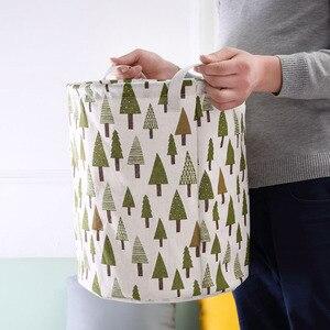 Image 1 - 2019 NEW Organizador Laundry Basket Portable Folding Sundries Box Bucket Closet Pillow Quilt Blanket Baby Toy Storage Bag