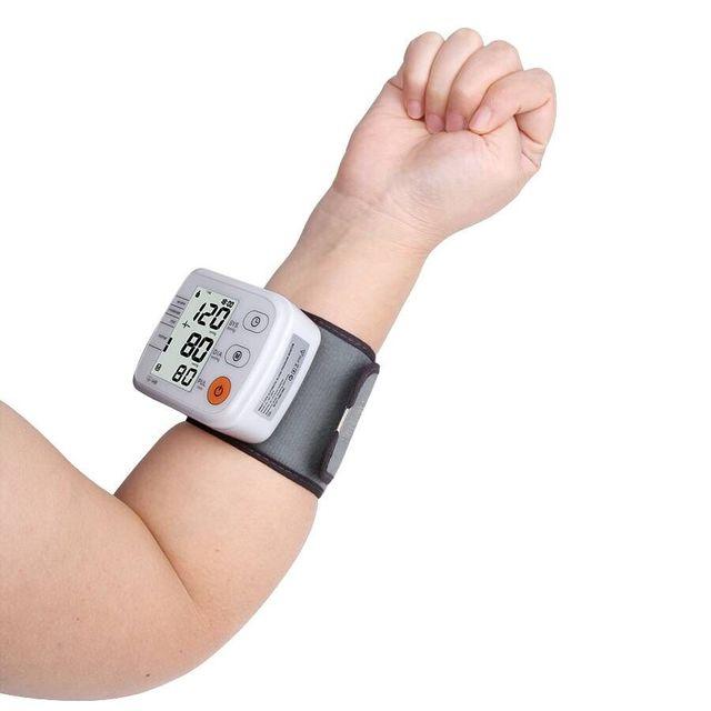 Digital Upper Arm Blood Pressure Pulse Monitor Full automatic  Wrist Monitor Meters Sphygmomanometer Health care