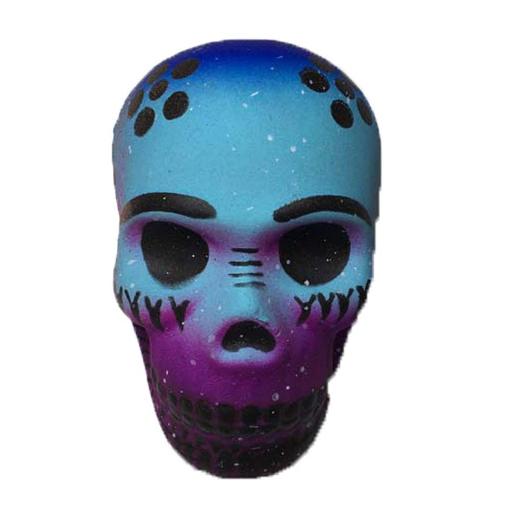 Halloween Simulation PU Galaxy Thriller Star Skull Soft Slow Rising Skeleton Head  Charm Scented  Anti-stress Exquisite Fun Toy