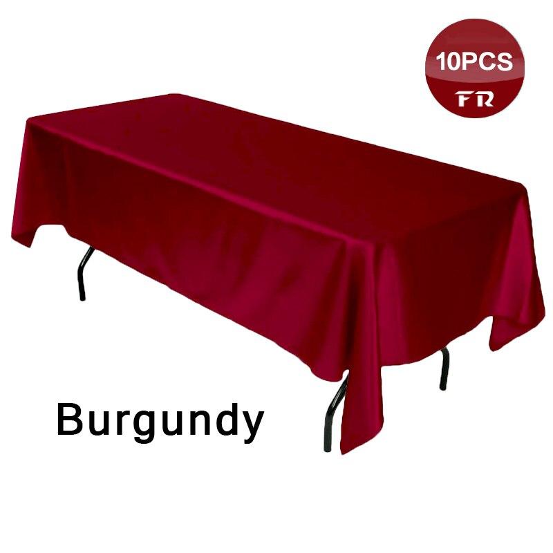... Factory Retail 10pc High Quality Satin Tablecloth Black Table Cover For  Weddings Manteles Para Mesa Rectangulares ...