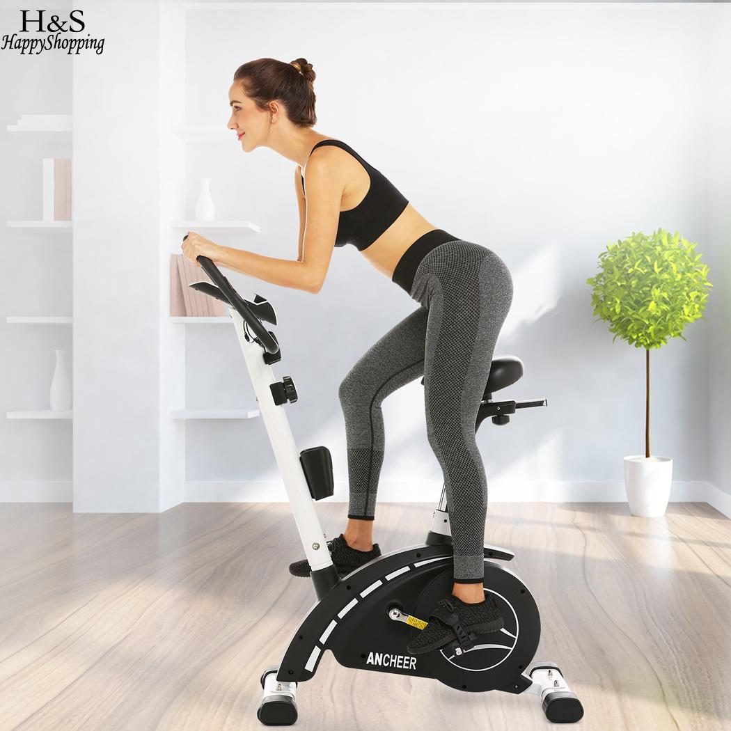 Strength Training For Cycling: Magnetic Resistance Upright Exercise Bike With Eight