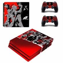 Persona 5 PS4 Pro naha kleebis PlayStation 4 konsoolile ja kontrolleritele Dualshock 4 PS4 Pro Skins kleebiste kleebis Vinüül