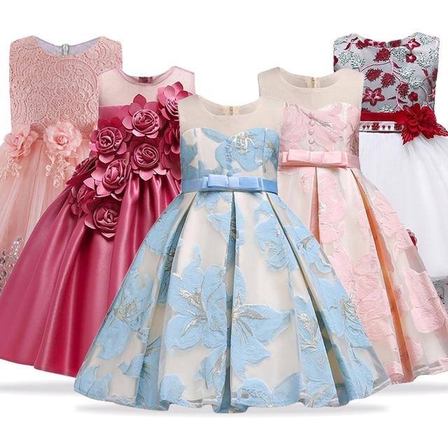 9c343f79d876 2019 Summer Party Princess Dress Girl Clothes Wedding Costume Kids Dresses  For Girls Bridesmaid Tutu Dress