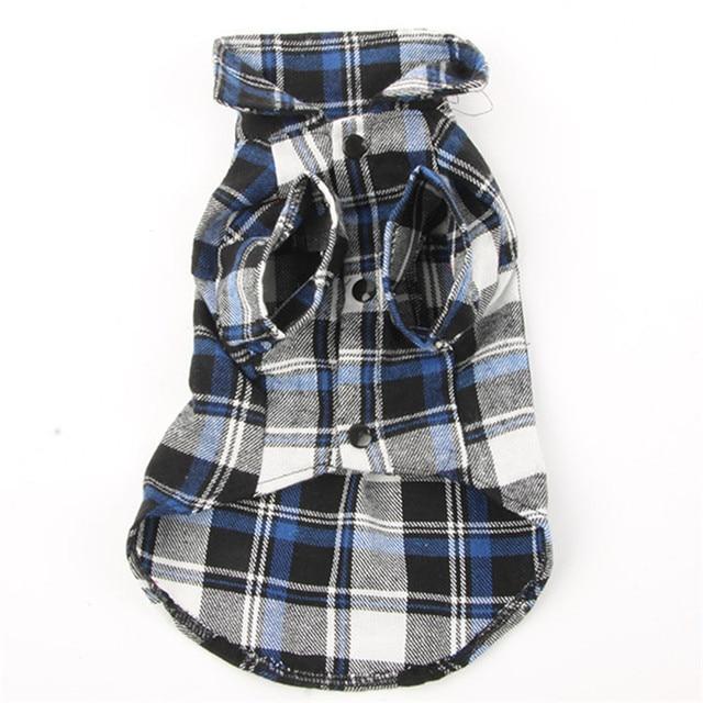 Dog Pet Casual Plaid Lapel Button Shirt Jacket Cotton Blend Sweatshirt Dogs Clothes Best