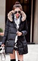New Woman Duck Down Coat Ladies Warm Jacket with Real Fur Hooded Parka Plus Big Size XXXXXL 2XL 3XL 4XL 5XL Black Sky Blue Pink