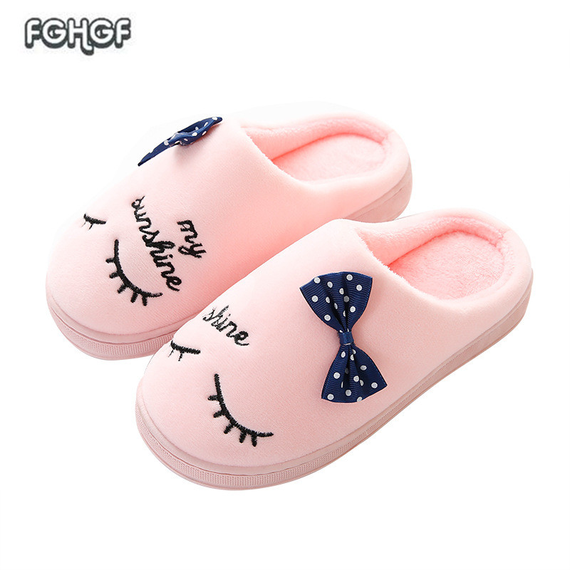 Slippers Home Shoes Women Winter Home Slippers Women Warm Plush Slippers Female Animal Ladies High siketu 2017 women home slippers spliced warm pregnant women shoes best gift drop shipping dec27