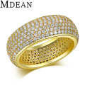 MDEAN Fashion Gold Plated rings cz jewelry trendy engagement accessories wedding bague for women MSR195