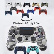 Версия 2 беспроводной пульт управления Bluetooth для SONY PS4 игрового контроллера геймпад для Play Station 4 джойстик консоль для PS3 для Dualshock пульта геймпад джойстик dualshock 4 gamepad геймпад ps4 контроллер