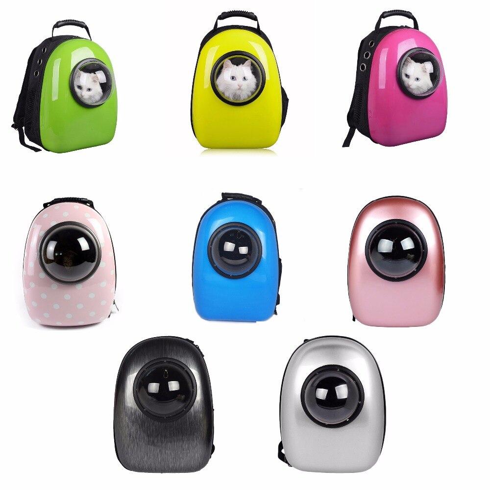 8 barev módní pet cestovní nosič prostor kapsle ve tvaru prodyšný pet batoh pet psy tašky venkovní přenosné Cat Carrier případ
