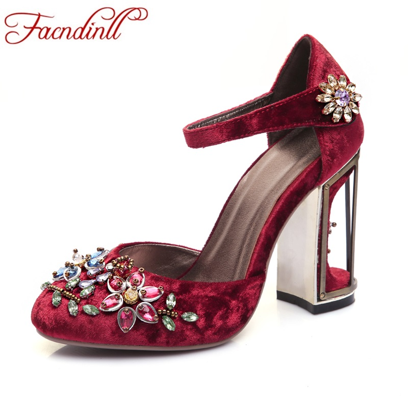 ФОТО new 2017 spring summer woman rhinestone high heel shoes wedding shoes fashion black red blue lace platform party shoes for women
