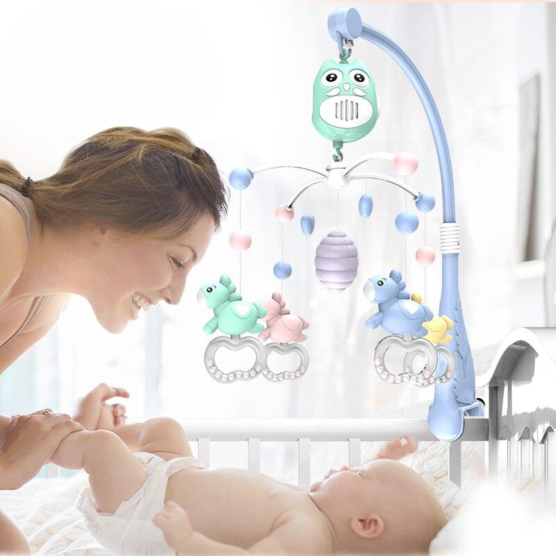 Pierres vivantes bébé lit cloche jouets musicaux pour 0-12 mois nouveau-né enfants cadeau Mobile berceau Mobile bébé hochet lit anneau - 2