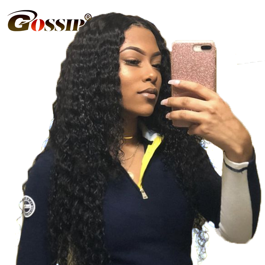 Malaysia Curly Hair Lace Front Human Hair Wigs Black Women Gossip Hair Deep Wave Lace Front Wig Non Remy Curly Human Hair Wig