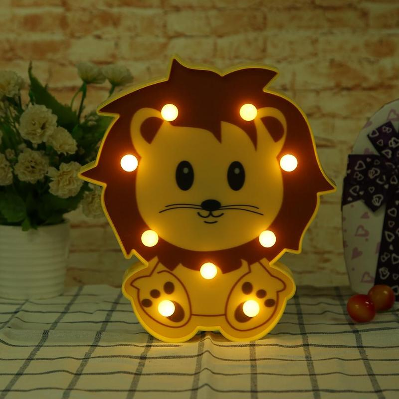 Novelty LED Night Ligh Cute Animal LED Table Lamp Marquee Home Bedroom Holiday Decor Battery LED Nightlight for Gift ChildrenNovelty LED Night Ligh Cute Animal LED Table Lamp Marquee Home Bedroom Holiday Decor Battery LED Nightlight for Gift Children