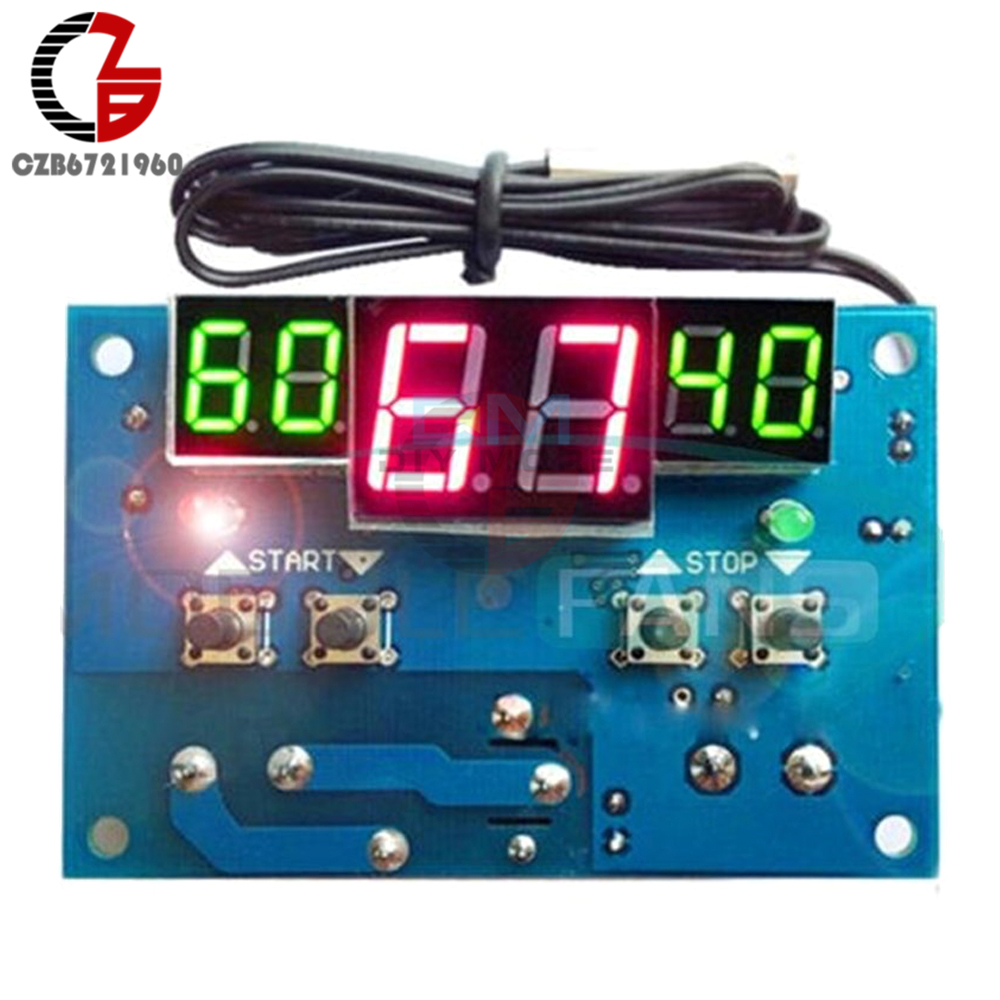 W1401 DC 24V Thermostat Intelligent Digital LED Display Module Thermostat Temperature Controller Module With NTC Sensor w1209 green led digital thermostat temperature control thermometer thermo controller switch module dc 12v waterproof ntc sensor