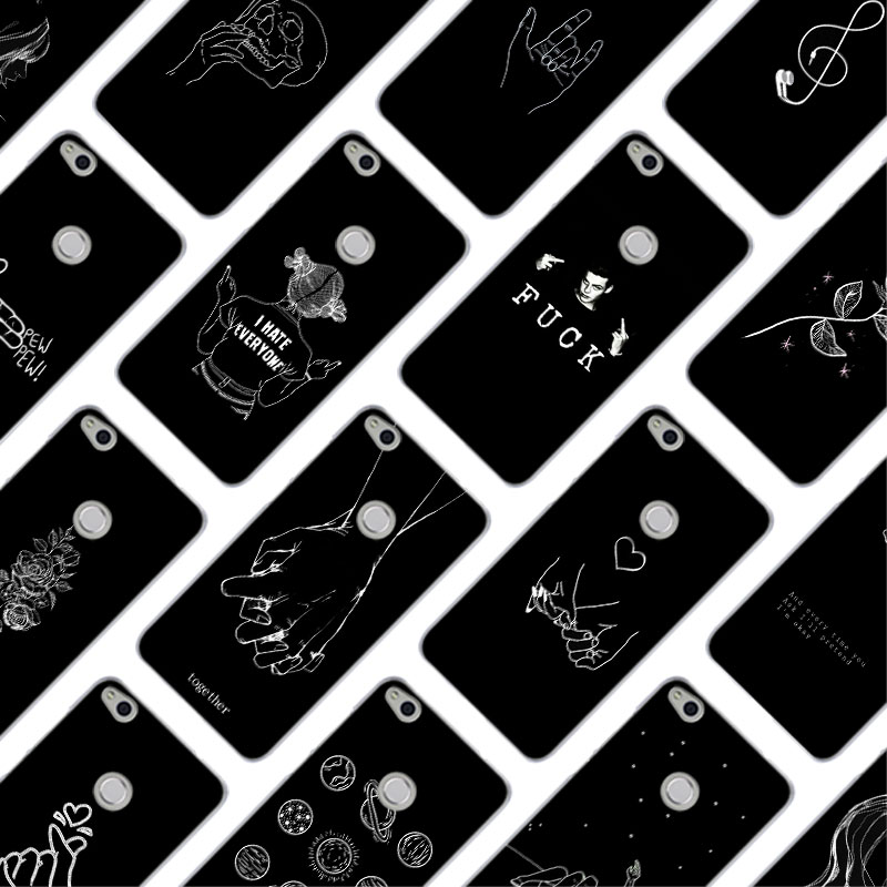 MLLSE Abstract Line Face art dark Hard Case Cover for Huawei NOVA 3 3i 4 <font><b>Honor</b></font> V20 8X 8A 7A Pro 7X 7C 7S 8 <font><b>9</b></font> 10 <font><b>Lite</b></font> Play Cover image
