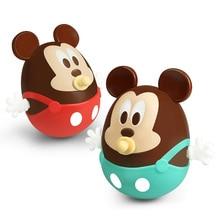 Купить с кэшбэком Disney Mickey Baby Toys Mobiles Ring Bell Nodding Shaking Tumbler Doll Baby Rattles Roly Poly Toy For Newborns Educational Gift