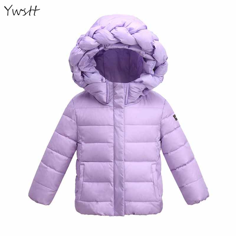 Ywstt Wnter New Children Down Jacket 2017 Girls Candy Color Warm Coat