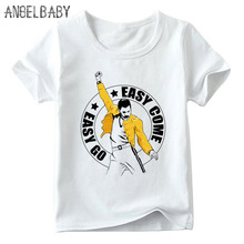 Boys and Girls FREDDIE MERCURY Queen Design T shirt Kids Children