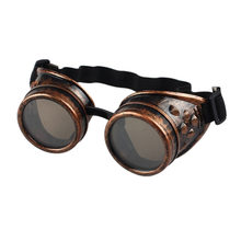 Welding Cyber Punk Vintage Sunglasses Retro Gothic Steampunk Goggles Glasses Men Sun Glasses Plastic Adult Cosplay Eyewear(China)