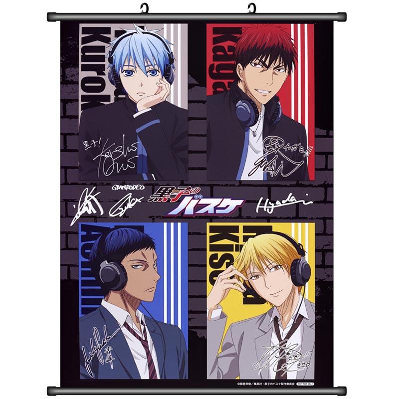 Anime Kuroko no Basketball Kuroko Tetsuya & Kagami Taiga & Hyuga Junpei Honda Home Decor Wall Scroll Poster Decorative Pictures