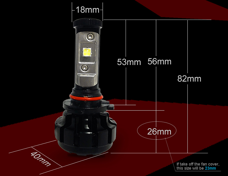 CNSUNNYLIGHT 10000LM Super Bright Car LED Headlight Kit H7 H11 H8 H9 9005 HB3 9006 HB4 9012 Replace Bulb w Anti-Dazzle Beam (6)