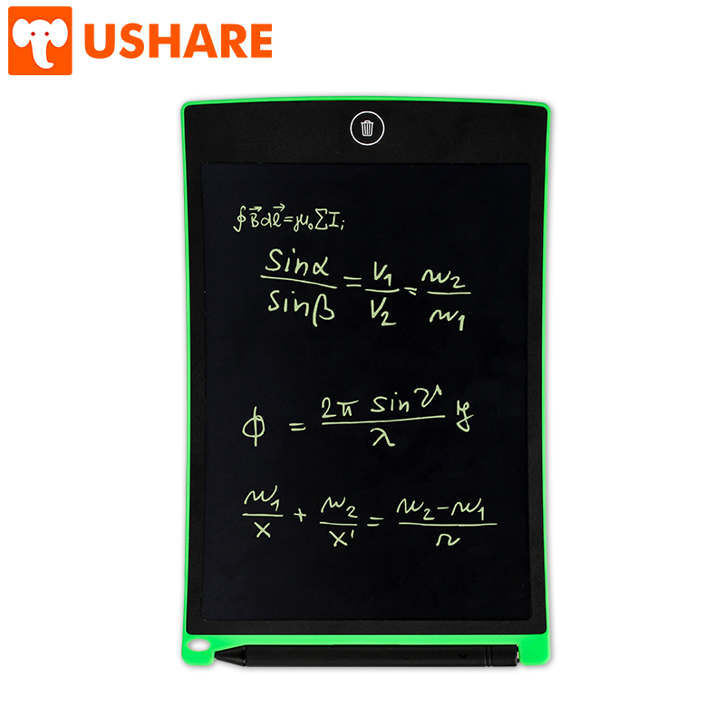 USHARE Smart PC Tablet I 8.5 Inch Easy-Writing Office Stationery Meeting Note-Taking LCD Writing Board For Kids