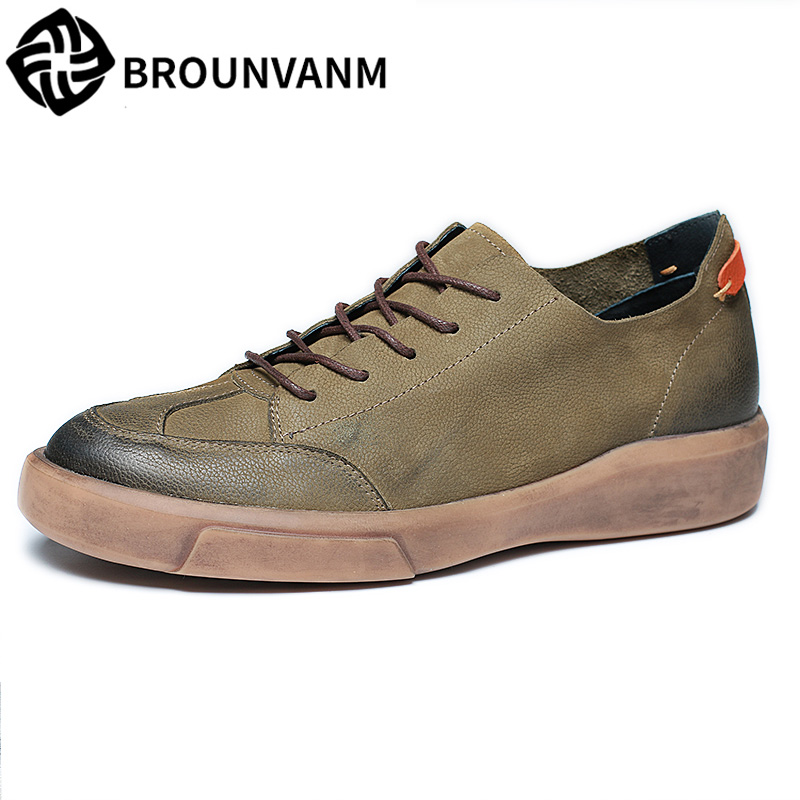 autumn winter British retro shoes men all-match cowhide business casual shoes Korean Genuine leather shoes men cowhide male