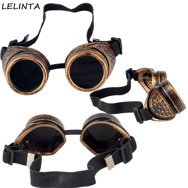 bb32da22d3 LELINTA Vintage Style Steampunk Goggles Welding Punk Gothic Glasses  Halloween Cosplay Funny Popular Eyewear