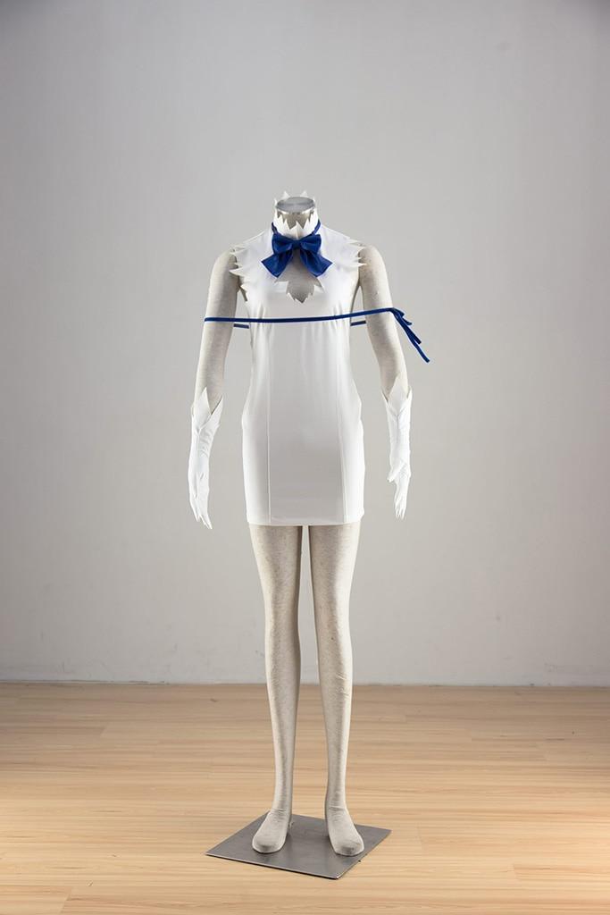 Est-ce faux d'essayer de ramasser des filles dans un cachot? Hestia robes blanches Costume Cosplay