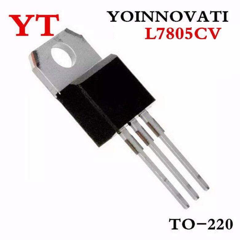 1000PCS L7805CV TO220 L7805 TO 220 7805 LM7805 MC7805 stabilivolt voltage regulator tube New original Integrated Circuits  - AliExpress