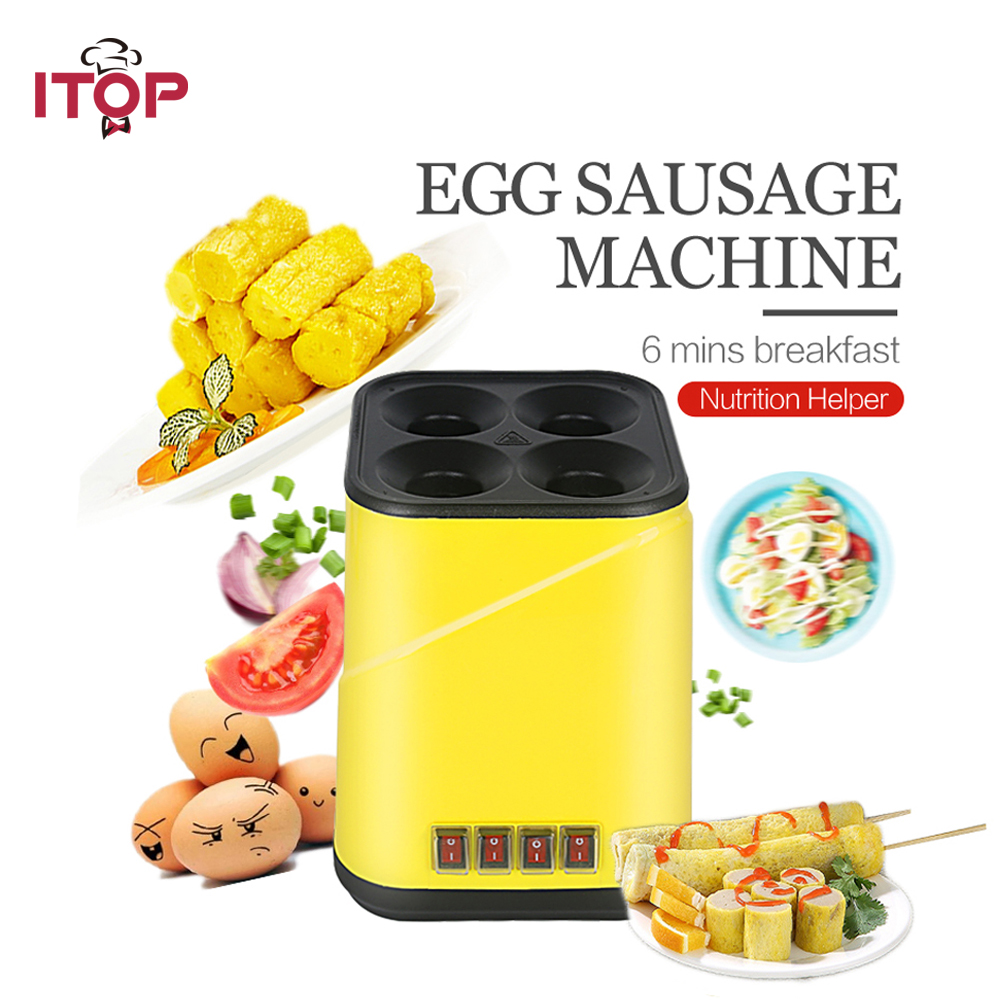 egg roll maker cooking Tool Egg Cup Omelette on 4 stick kitchen Machine cukyi automatic roll maker electric egg boiler cup omelette breakfast maker non stick kitchen cooking tool 220v heat separately