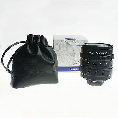 50mm f1.8 C mount CCTV Lens for M4/3 NEX FX EOSM N1 PQ APS-C sensor Camera kaxinda metal 35mm f 1 7 lens for m4 3 nex fx eosm n1 p q e1 aps c mirrorless