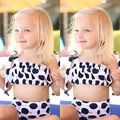 6b564ae6d8 Polka Dot Baby Girls Swimwear Girl Kids Toddler Bathing Suit Swimwear  Bikini Tankini Swimsuit Swimming Costume 2 7 Years-in Bikinis Set from  Sports ...