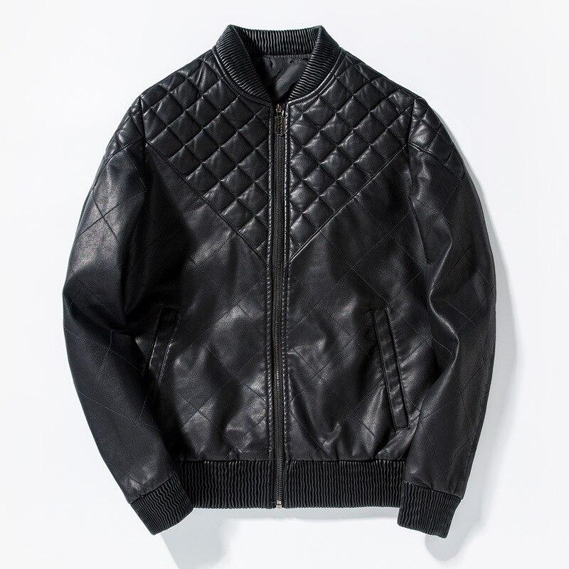 MSAISS Spring Leather Jacket Men Jaqueta De Couro Masculina PU Mens Leather Jackets Skull Punk Veste Cuir Homme M-3XL