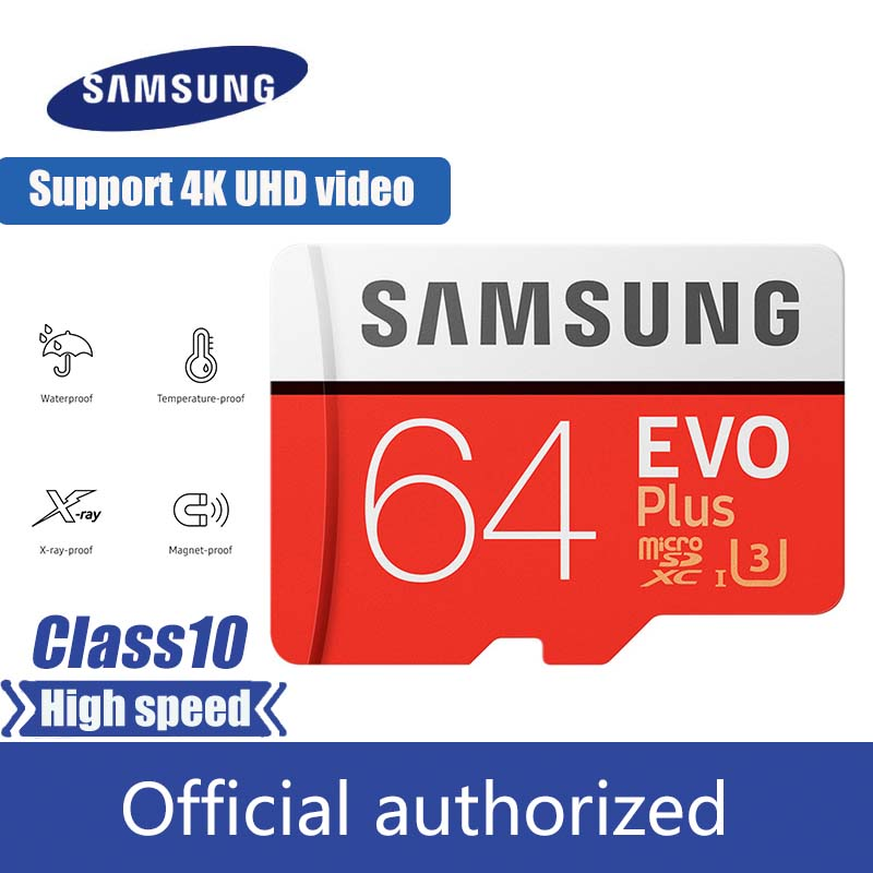 Samsung EVO PLUS Micro Sd Card 32GB 64GB 128GB 256GB Memory Card UHS-I 100M / S Class10 U3 TF Card SDHC SDXC With Card Reader