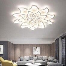 New Arrival Crystal Modern Led Chandelier For Living Room Bedroom Study lustre plafonnier White avize