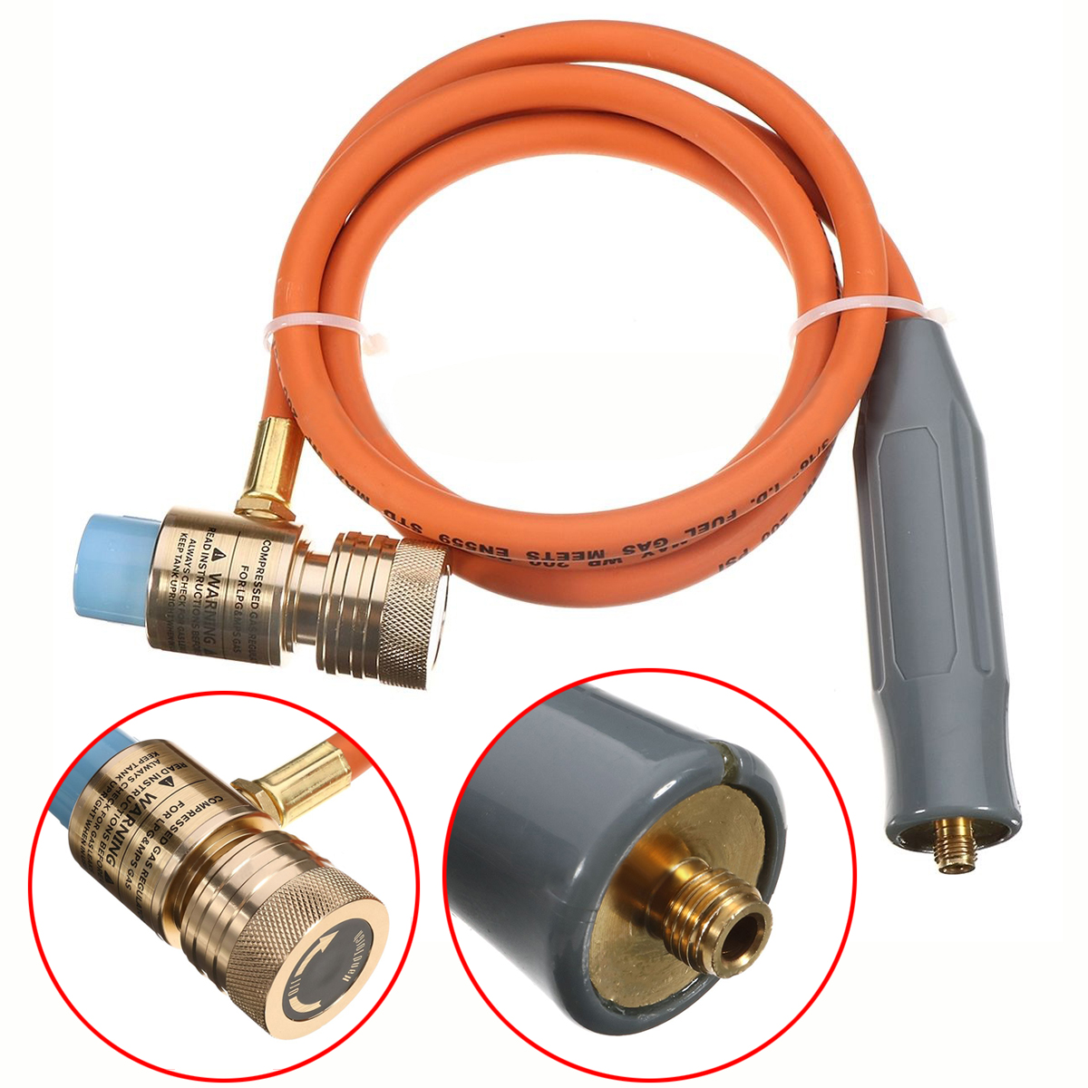 Adjustable Mayitr Solder Propane Welding Torch Gas Self Ignition Plumbing Turbo Torch With Hose for Plumbing Air Conditioning mig mag burner gas burner gas linternas wp 17 sr 17 tig welding torch complete 17feet 5meter soldering iron air cooled 150amp