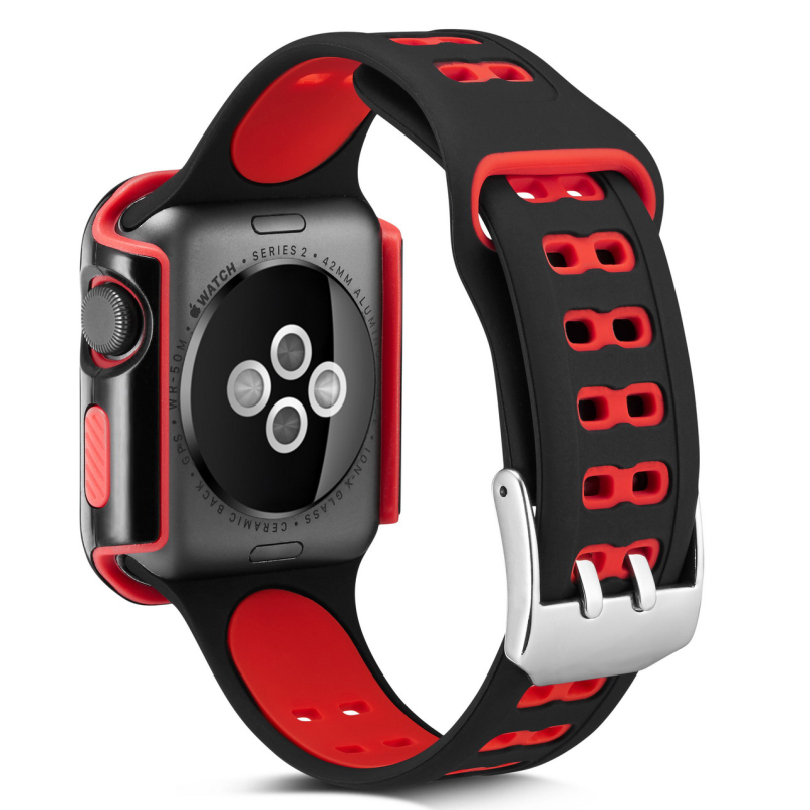 Sport Silicone Band Strap For Apple Watch 42mm 38mm Bracelet Wrist Band Watch Replacement Watchband Series 3/2/1 Accessories apple watch band 38mm 42mm secbolt metal replacement wristband sport strap for apple watch nike series 3 series 2 series 1