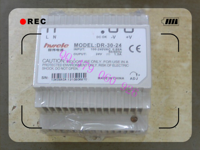 [ZOB] Heng Wei guide rail switching power supply DR-30-24 24V1.5A  --3PCS/LOT